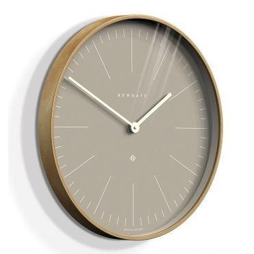 Mr Clarke Light Wood 53cm Wall Clock - Clay Grey