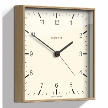 Mr Thomas Light Wood Wall Clock
