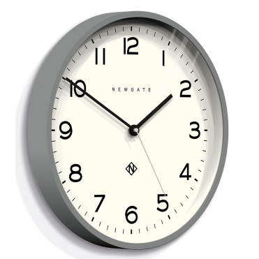 Number Three Echo Wall Clock - Grey