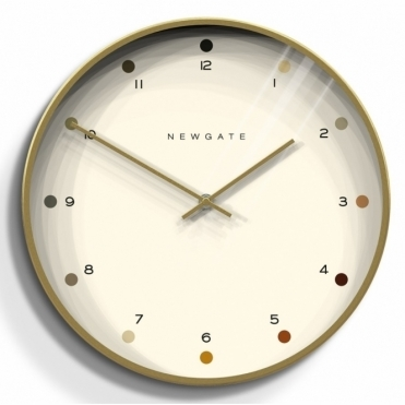 Oslo Gold Wall Clock - Dot Dial