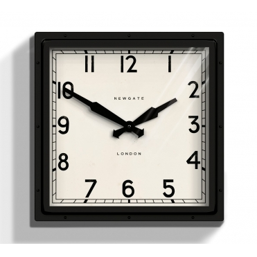 Quad Wall Clock Black