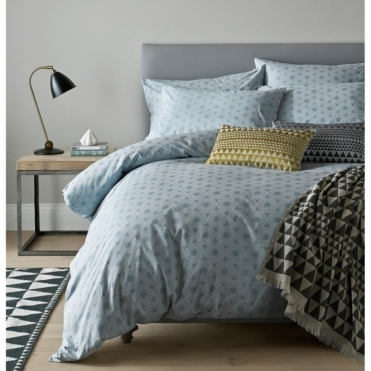 Concentric Pewter Duvet Cover - Double