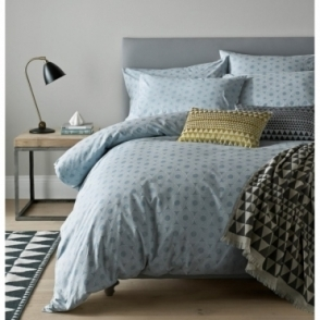 Concentric Pewter Duvet Cover - King