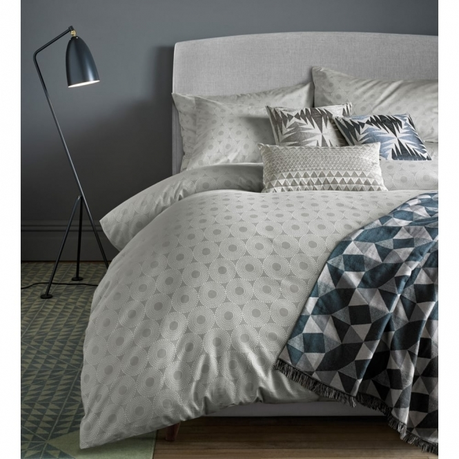 Niki Jones Concentric Silver Duvet Cover - Double