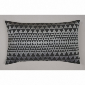 Embroidered Isosceles Cushion - Slate