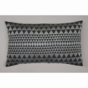 Niki Jones Embroidered Isosceles Cushion - Slate