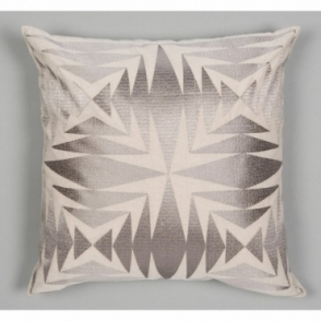 Embroidered Teja Cushion - Ash Grey