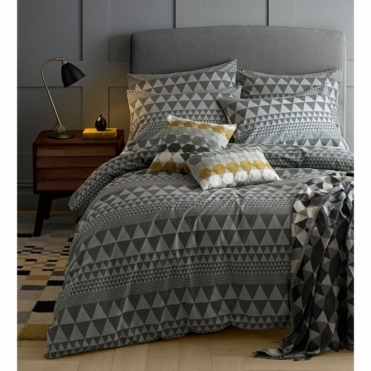 Isosceles Grey Duvet Cover - Double