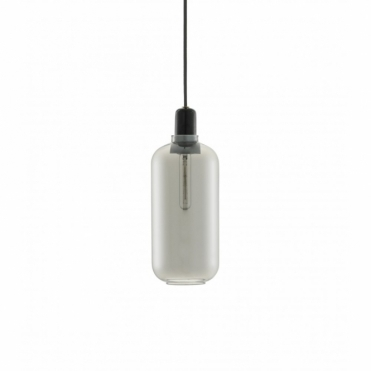 Amp Lamp Large Pendant Light Smoke / Black