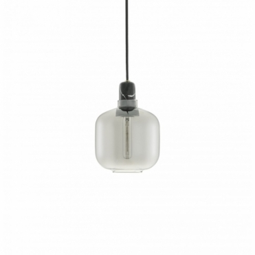 Amp Lamp Small Pendant Light Smoke / Black