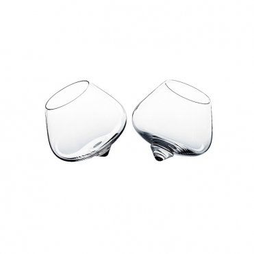 Cognac Rocking Glasses Set of 2
