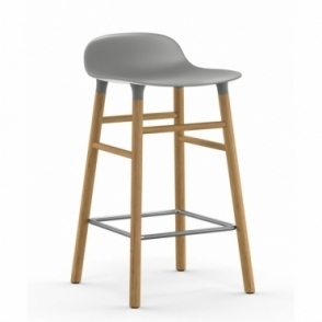 Form Barstool - Grey / Oak