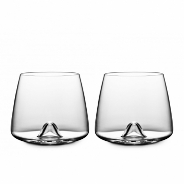 Whisky Glasses Set of 2 Glass Whisky Tumblers