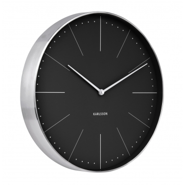 Normann Station Wall Clock - Black