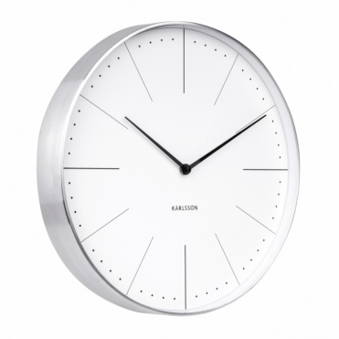 Normann Station Wall Clock - White