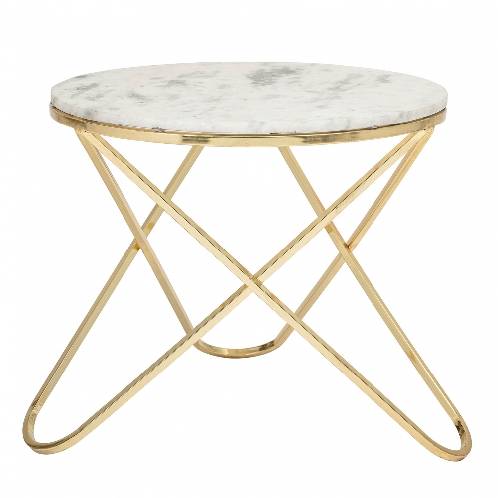 Bloomingville Nuevo White Marble And Gold Coffee Table Hurn And Hurn