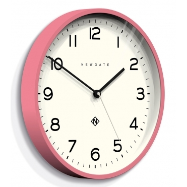 Number Three Echo Wall Clock - Marshmallow Pink