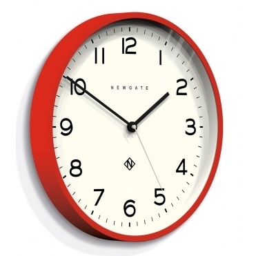 Number Three Echo Wall Clock - Red