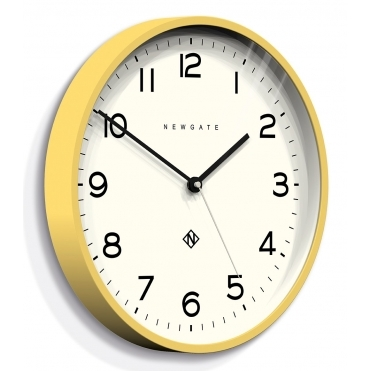 Number Three Echo Wall Clock - Yellow
