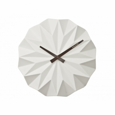 Origami Ceramic Wall Clock White