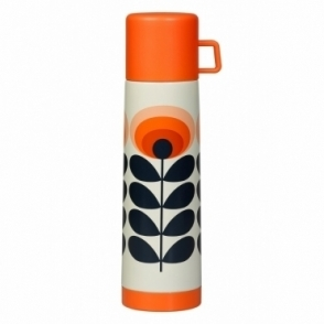 Orla Kiely 70s Flower Oval Flask Large - Orange