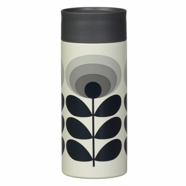 70s Flower Oval Travel Mug - Grey