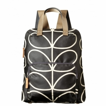 Giant Linear Stem Backpack Tote - Liquorice