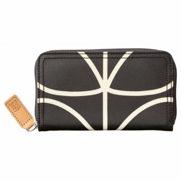 Giant Linear Stem Big Zip Wallet Purse - Liquorice