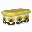 Orla Kiely House 70s Flower Oval Butter Dish - Yellow