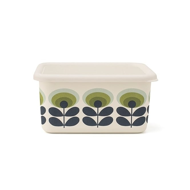 Orla Kiely House 70s Flower Oval Enamel Container - Small