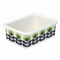 Orla Kiely House 70s Flower Oval Green Enamel Storage Container - Extra Large