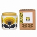 Orla Kiely House 70s Flower Oval Jar 1 Litre with Ceramic Lid - Yellow