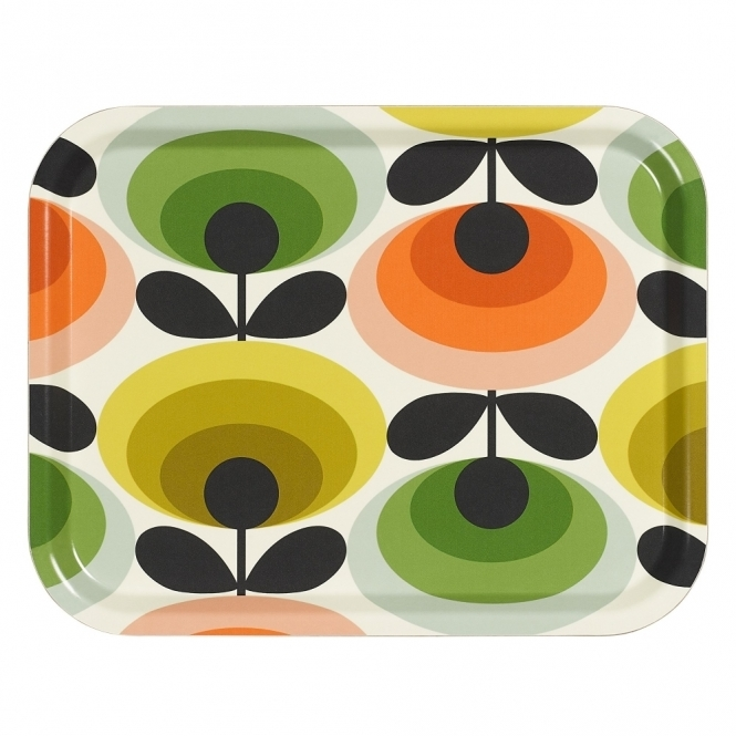 Orla Kiely House 70s Flower Oval Multi Tray - Medium