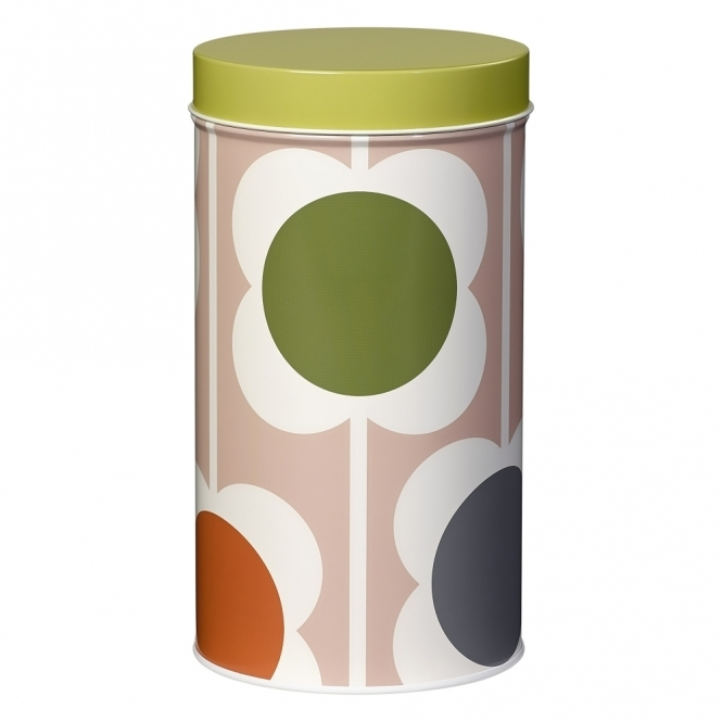 Abacus Flower Storage Tin Canister