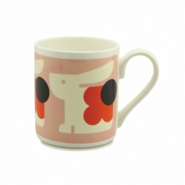Bonnie Bunny Mug - Pale Rose / Orange