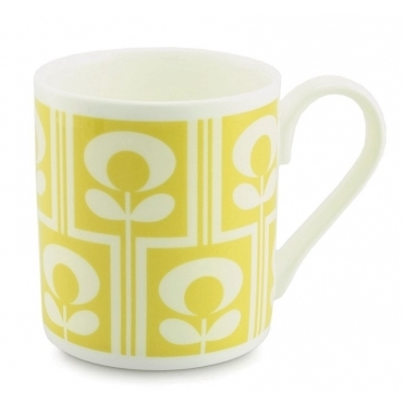Climbing Flower Oval Mug - Yellow