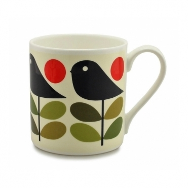 Early Bird Green & Red Quite Big Mug - Large