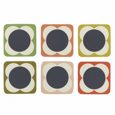 Flower Spot Coasters - Set of 6