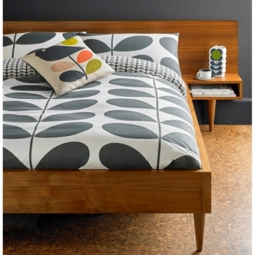 Giant Stem Flannel Granite Duvet Cover - King