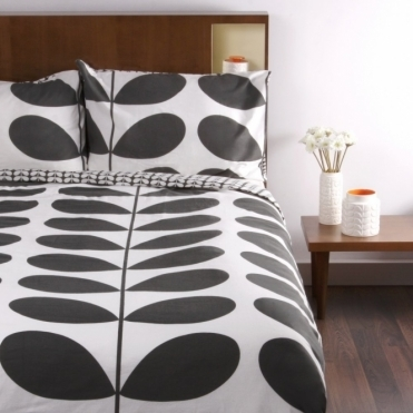 Giant Stem Flannel Granite King Duvet Cover