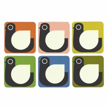 Hen Coasters Assorted Colours - Set of 6