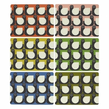 Hen Placemats Assorted Colours - Set of 6