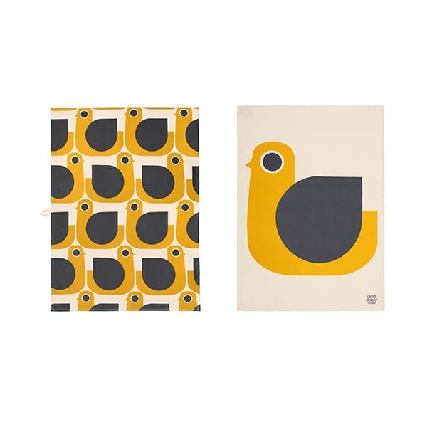Orla kiely hen tea towels set of 2 hurn and hurn for Homeware accessories