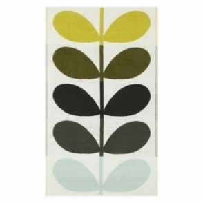 Orla Kiely House Large Stem Towels - Dark Duck Egg