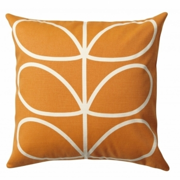 Linear Stem Cushion Orange