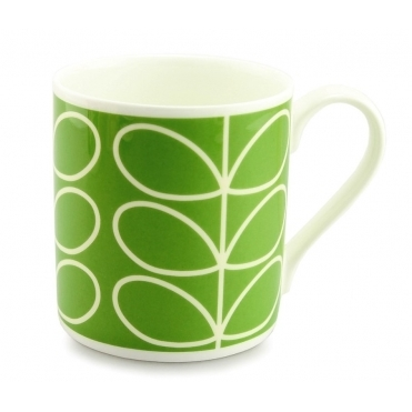 Linear Stem Green Quite Big Mug - Large