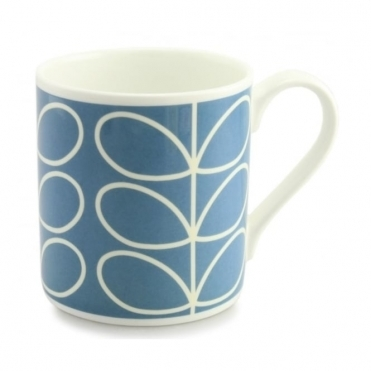 Linear Stem Periwinkle Blue Quite Big Mug - Large