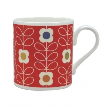 Linear Stem Poppy Red Mug