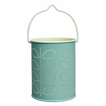 Linear Stem Tealight Lantern - Duck Egg Blue