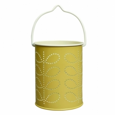 Linear Stem Tealight Lantern - Yellow